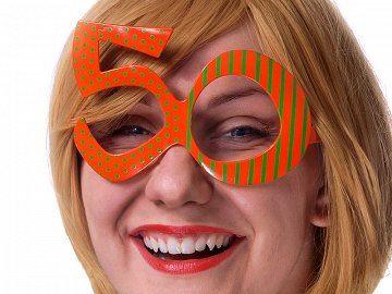 Okulary 50,pomarańcz