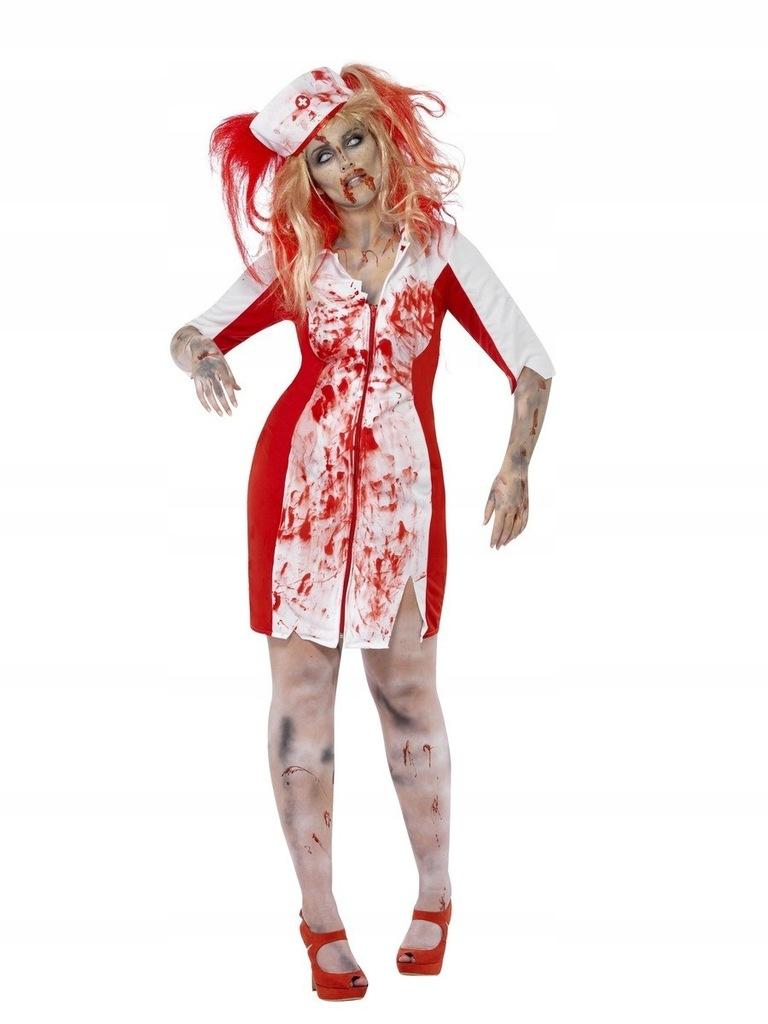 Strój Pielęgniarki Kostium Zombie na Halloween XL