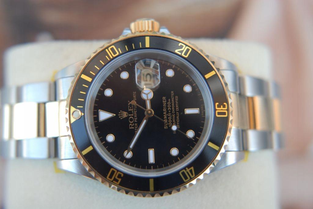 ROLEX Submariner 18K Gold/Stal 16613 jak NOWY