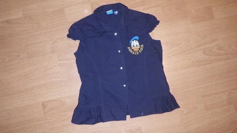 DISNEY elegancka bluzka kaczor Donald 134+