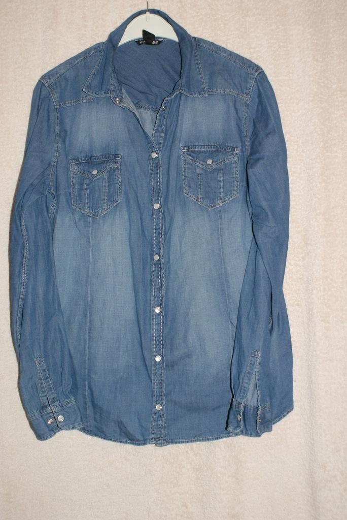 Klasyczna damska koszula jeansowa M 3XL M  ovhwr