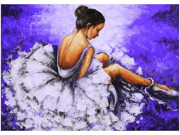70x50cm Obraz druk Baletnica na granatowym tle dek