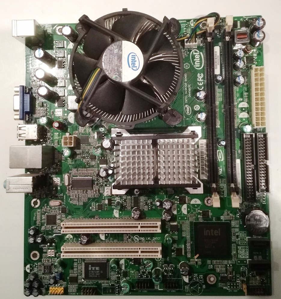 Płyta główna Intel D945GCPE s775 +proc +chłodzenie