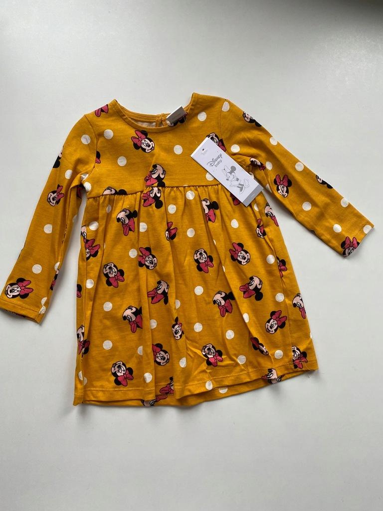 Nowa bawełniana sukienka Myszka Minnie 80
