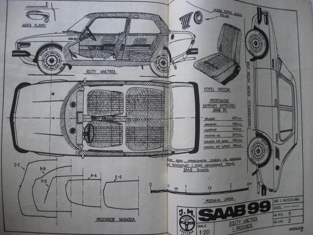 MODELARZ samochód SAAB 99 Plan 1972