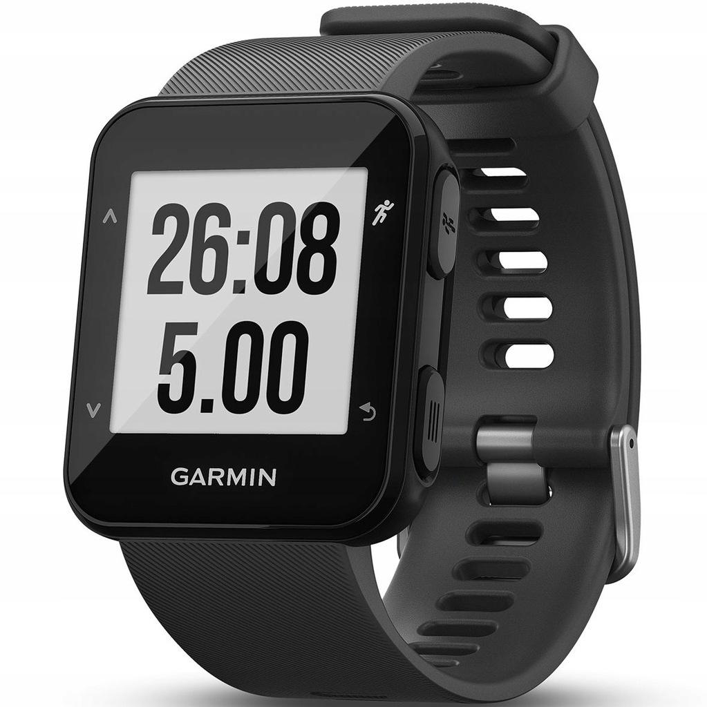 Zegarek sportowy Garmin Forerunner 30 WHRM gray