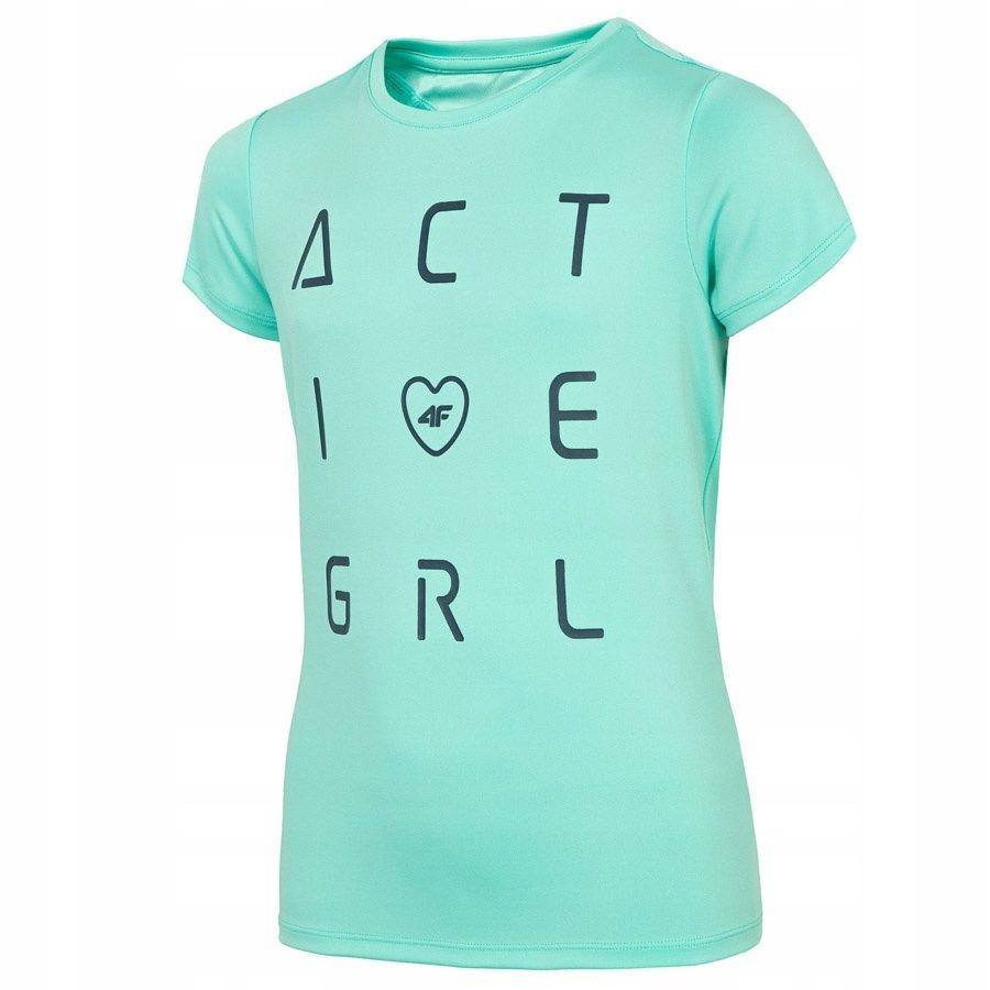 T-Shirt 4F J4L19-JTSD400A 47S zielony 158 cm