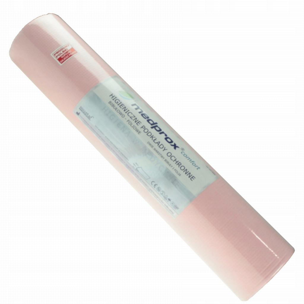Medprox podkład podfoliowany rolka 50x50 różowy