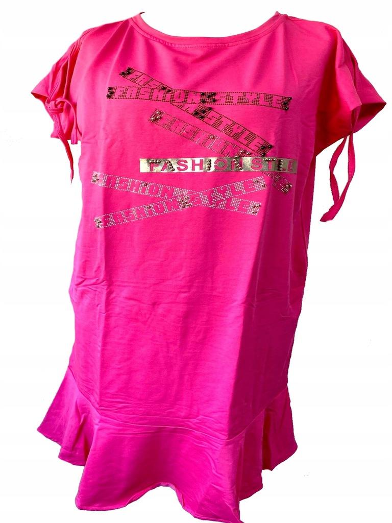 WAWA Sukienka różowa z falbanką 44
