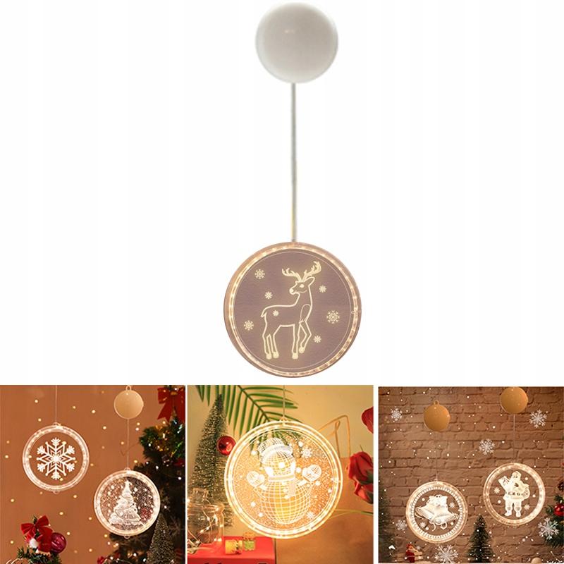 Świąteczny żyrandol w stylu 3D, świąteczny renifer