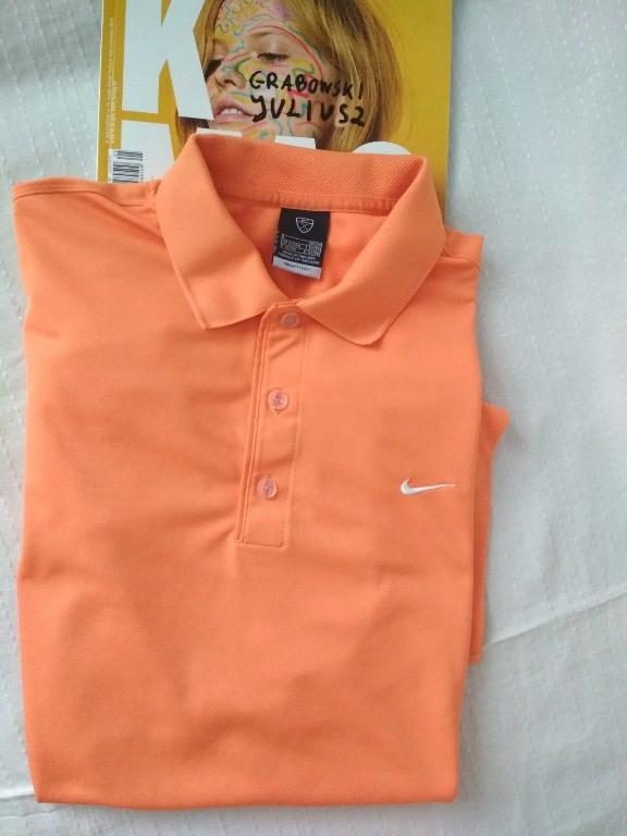 Koszula Polo NIKE DriFIT r. L/XL Orange jak nowa!