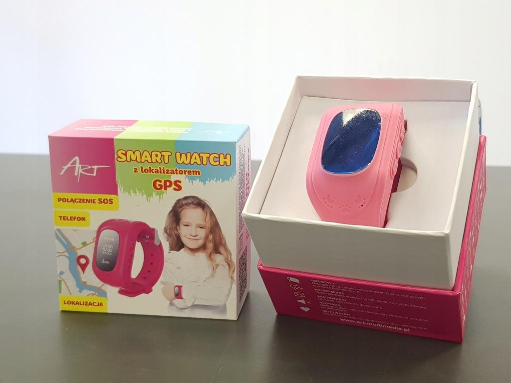 Smartwatch ART SGPS-01 różowy JAK NOWY
