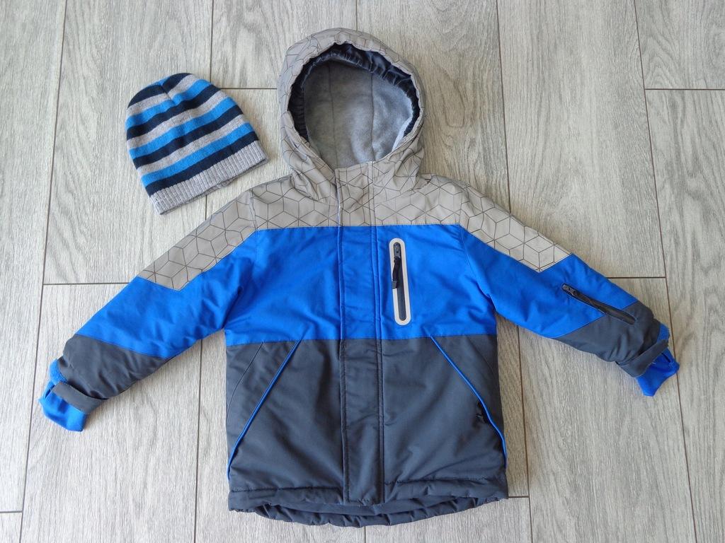 cool club zimowa kurtka narciarska + czapka r. 98