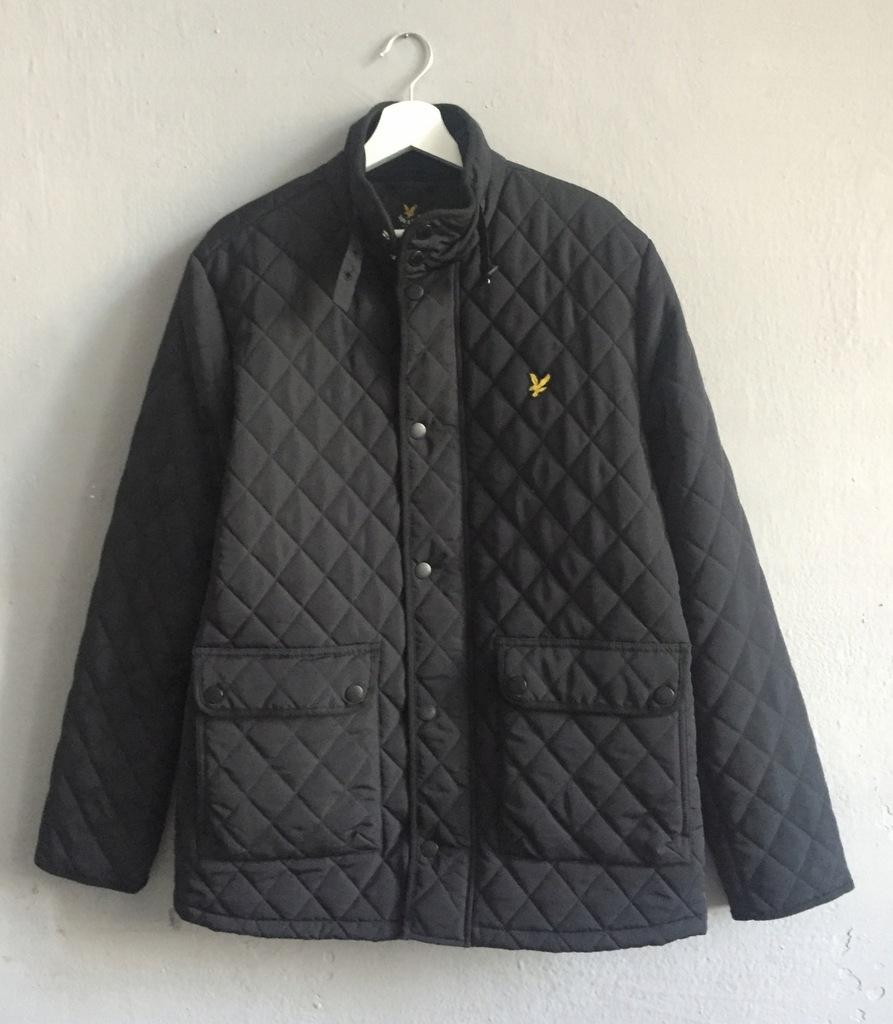 Lyle & Scott kurtka pikowana czarna