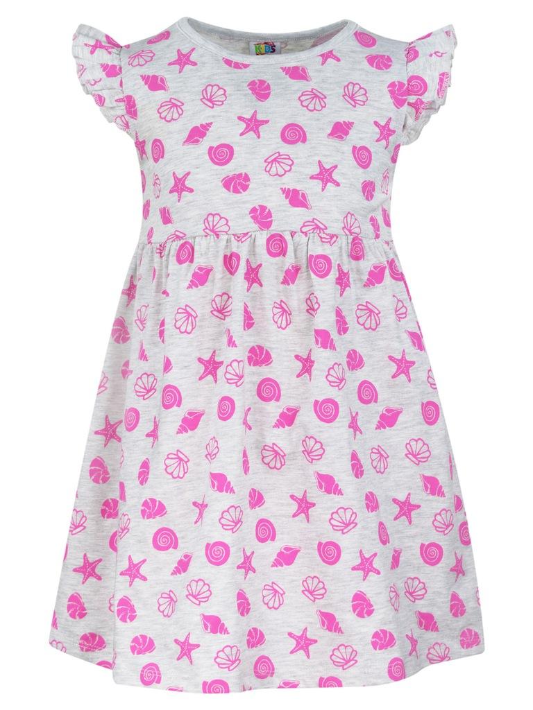 TXM sukienka dziewczęca 122 JASNY SZARY MELANŻOWY