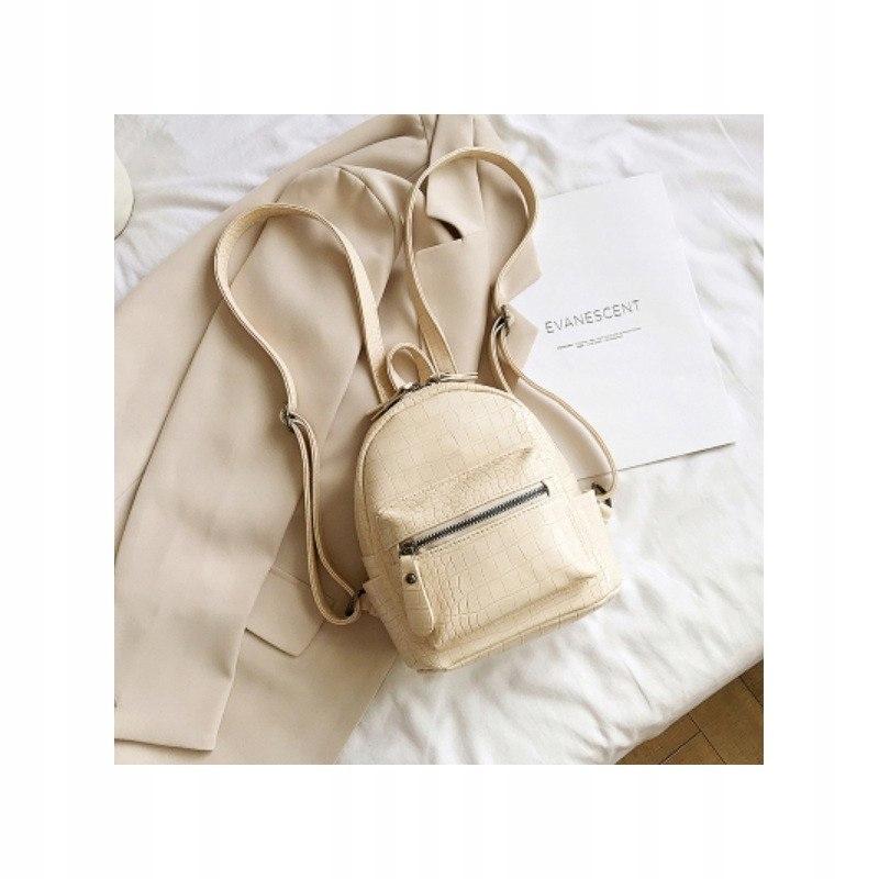 Plecak skóra ekologiczna elegancki CITY - white