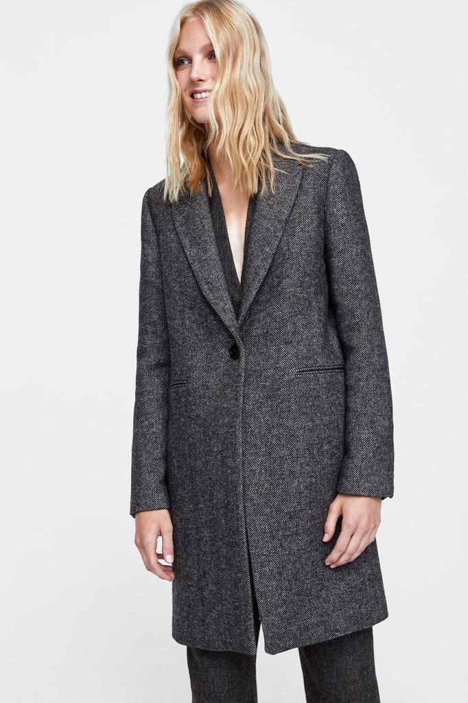 Wełniany płaszcz Zara okazja!!! L