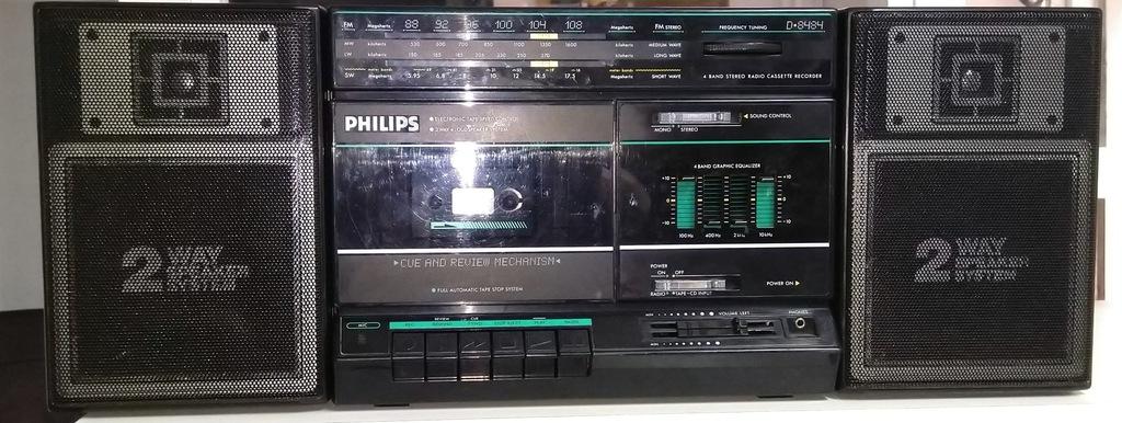 philips radiomagnetofon kasetowy stereo D8484