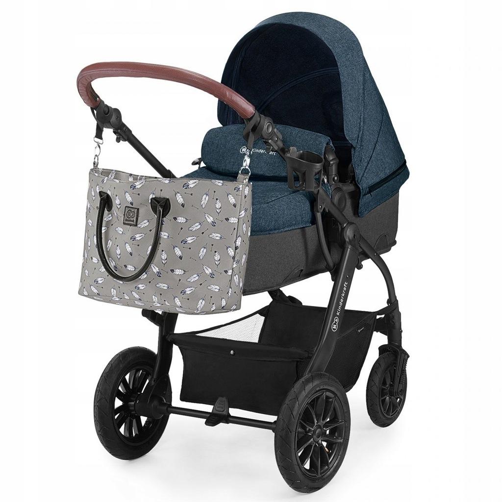 Wózek wielofunkcyjny 3w1 XMoov Denim Kinderkraft