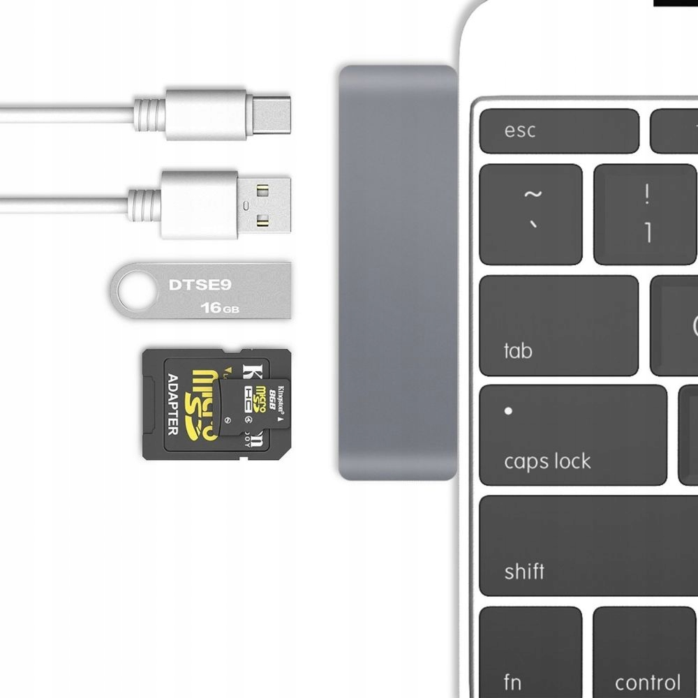 TECH-PROTECT ADAPTER TYPE-C TO MULTI PORT 5IN1