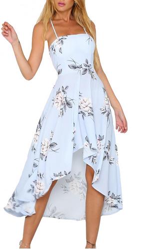 Sukienka Midi Dluga Lato Kwiaty Modna 34 Xs 7450082473 Oficjalne Archiwum Allegro