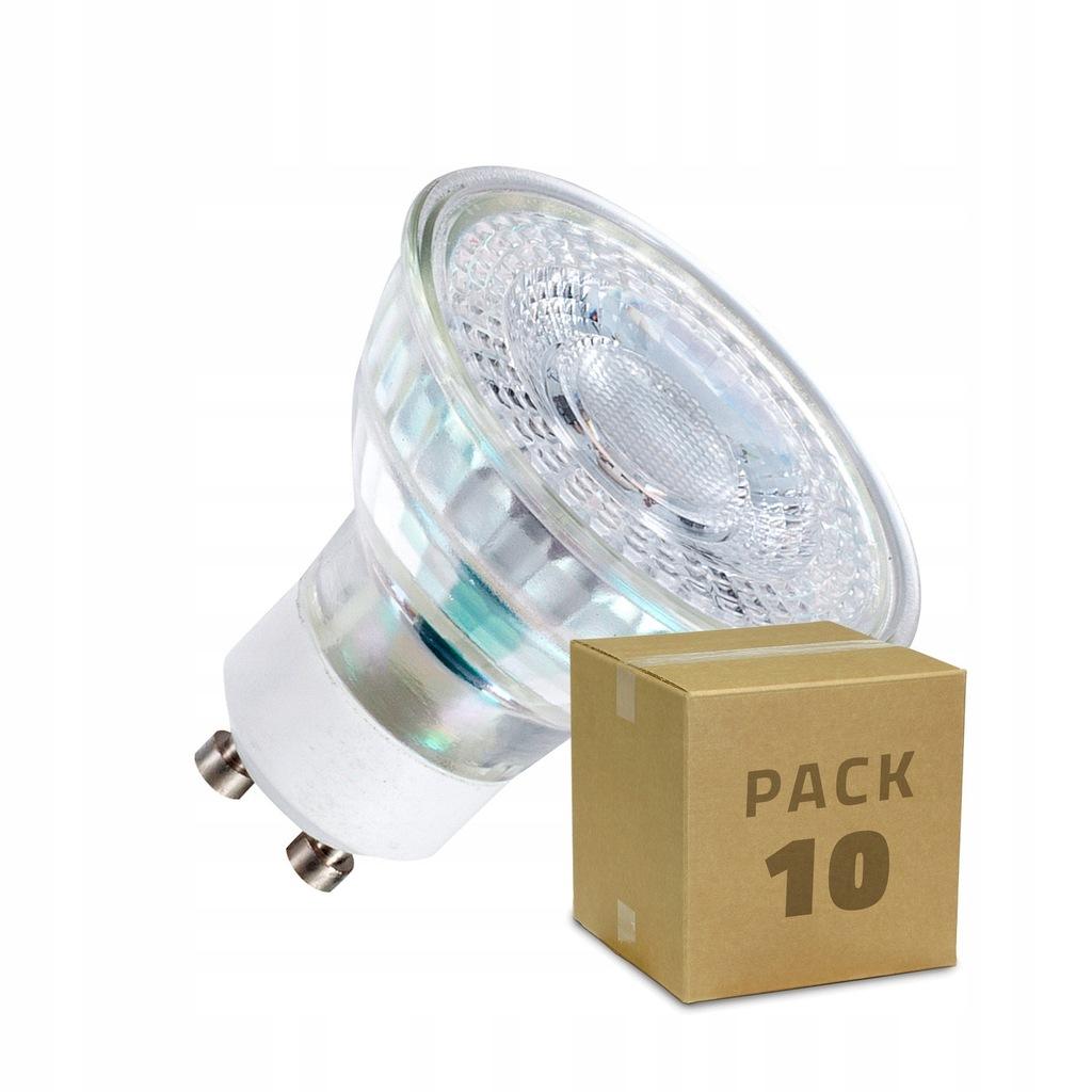 Zestaw Żarówek LED GU10 SMD Szklanych 7W (10