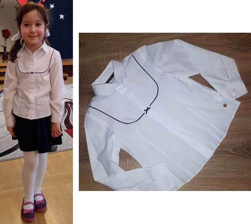 Wójcik koszula bluzka galowa biała 122 6-7 lat.
