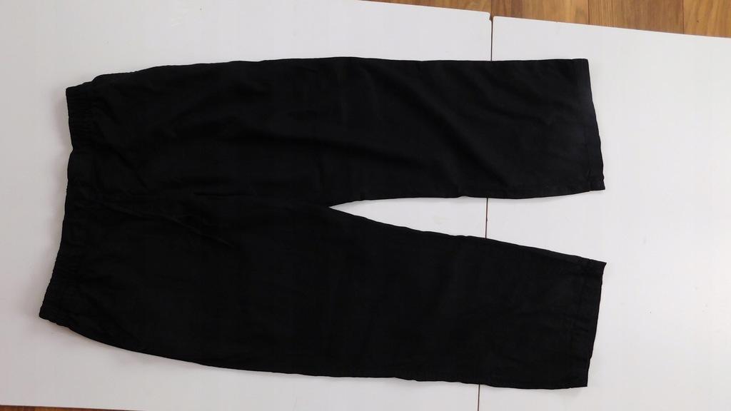 Spodnie lniane czarne 44/XXL 16P