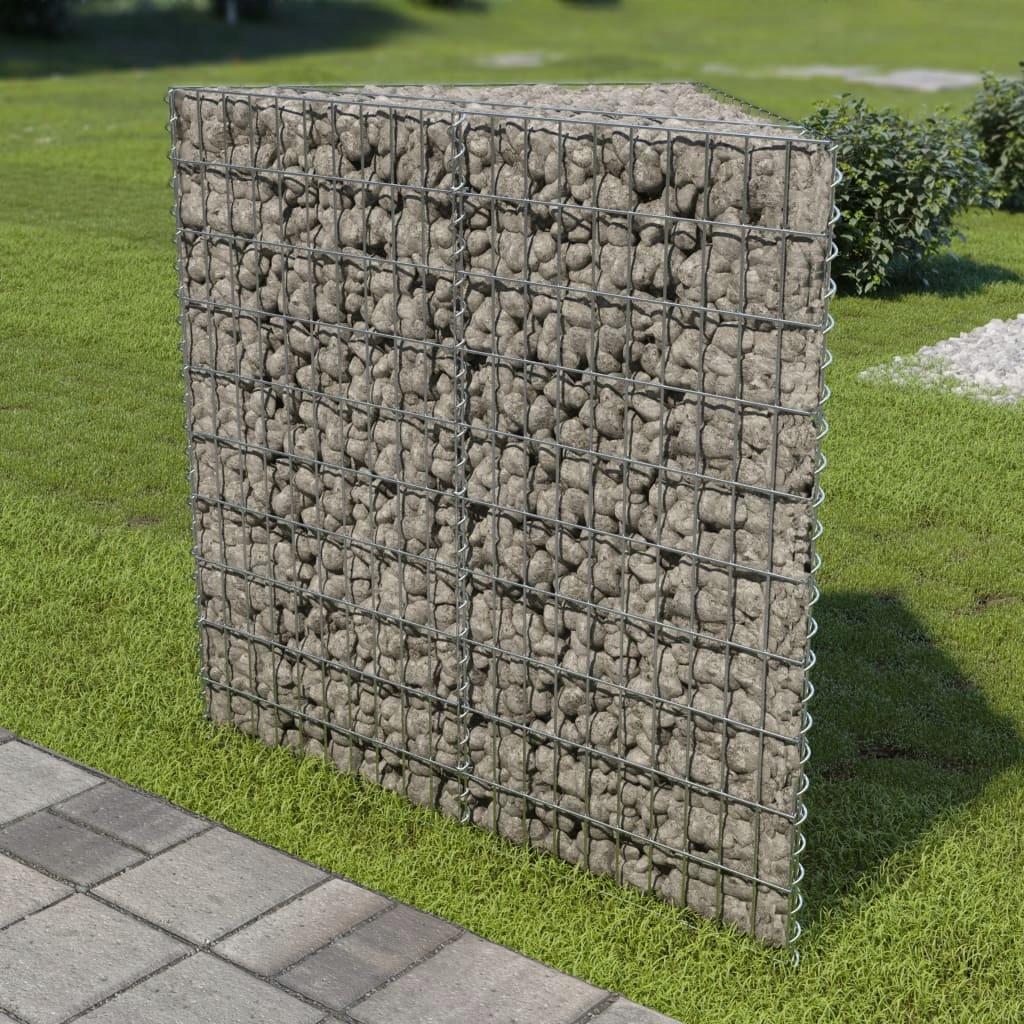 Donica gabionowa z galwanizowanej stali, 75x75x100