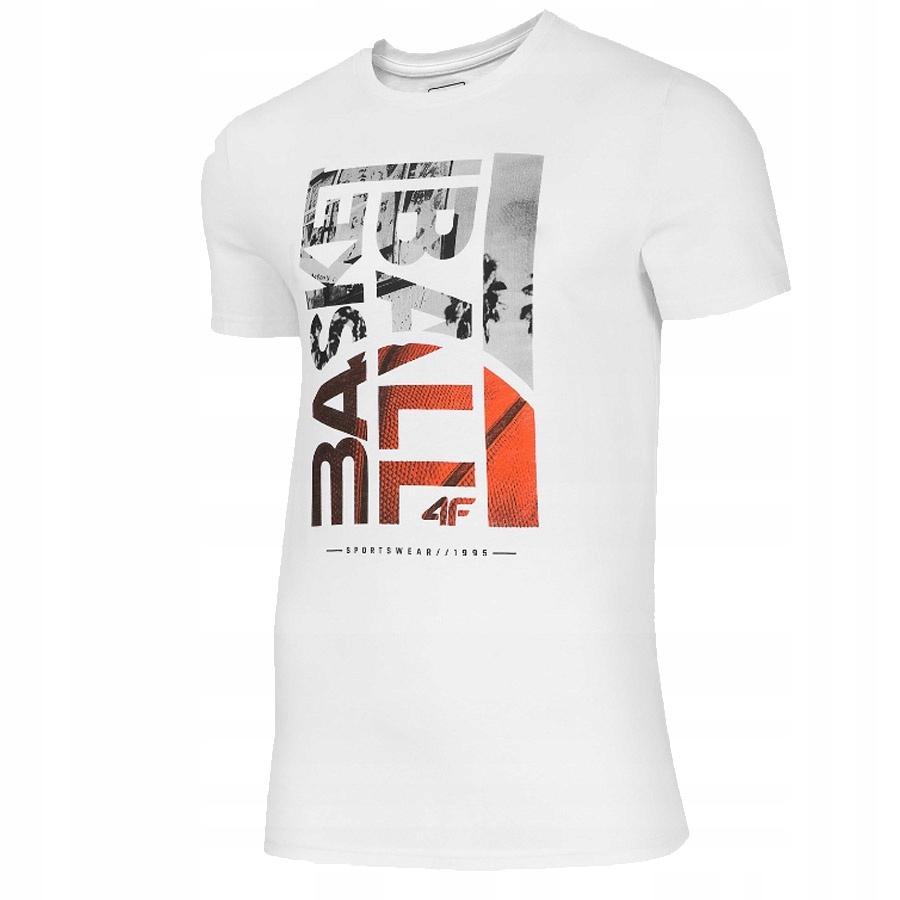 T-Shirt 4F H4L20-TSM031 10S biały XL!
