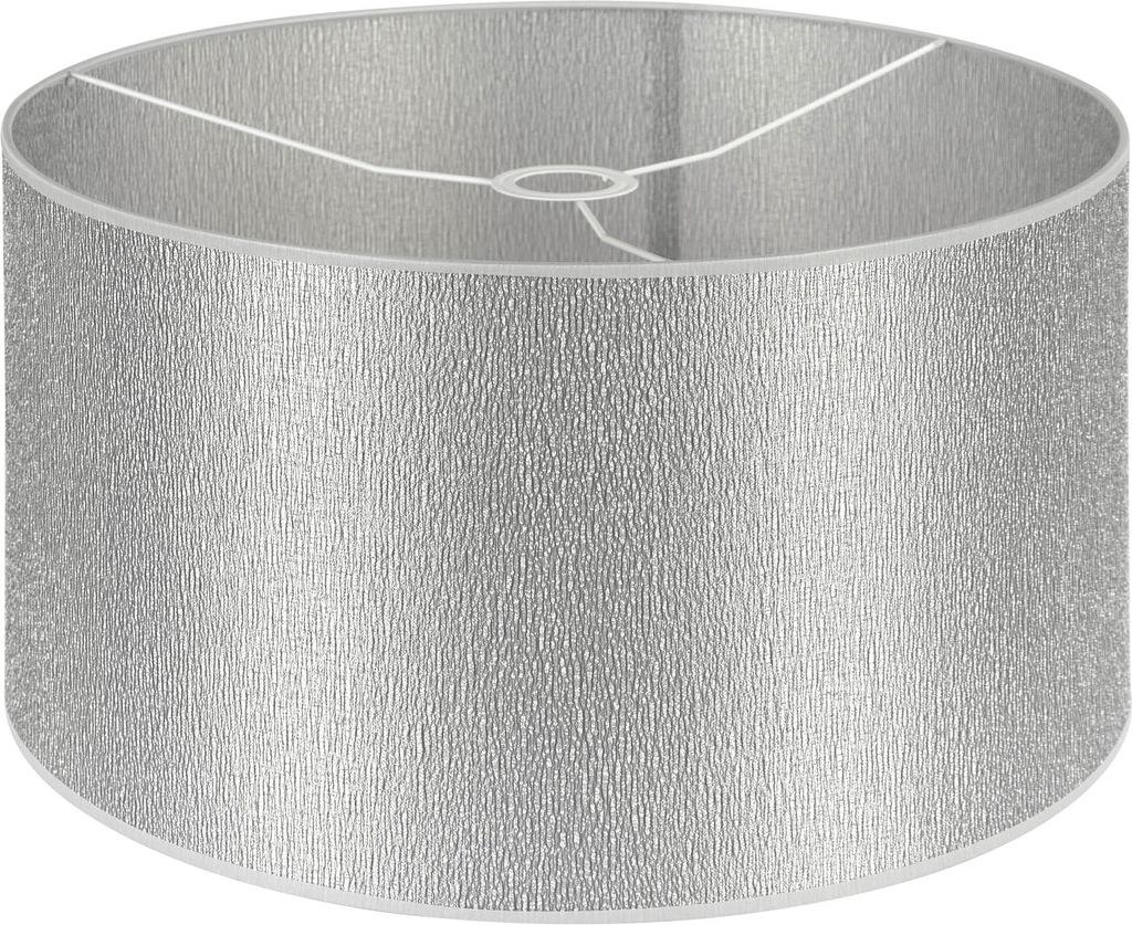 Abażur klosz do lampy cylinder srebrna kora 45/25