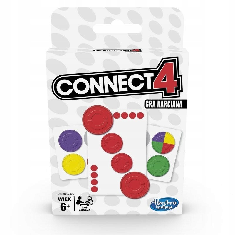 Hasbro Gra karciana, karty Connect 4 E8388
