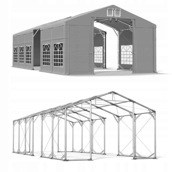 8x25m 3-4,5m Namiot ogrodowy solidny eventowy zima