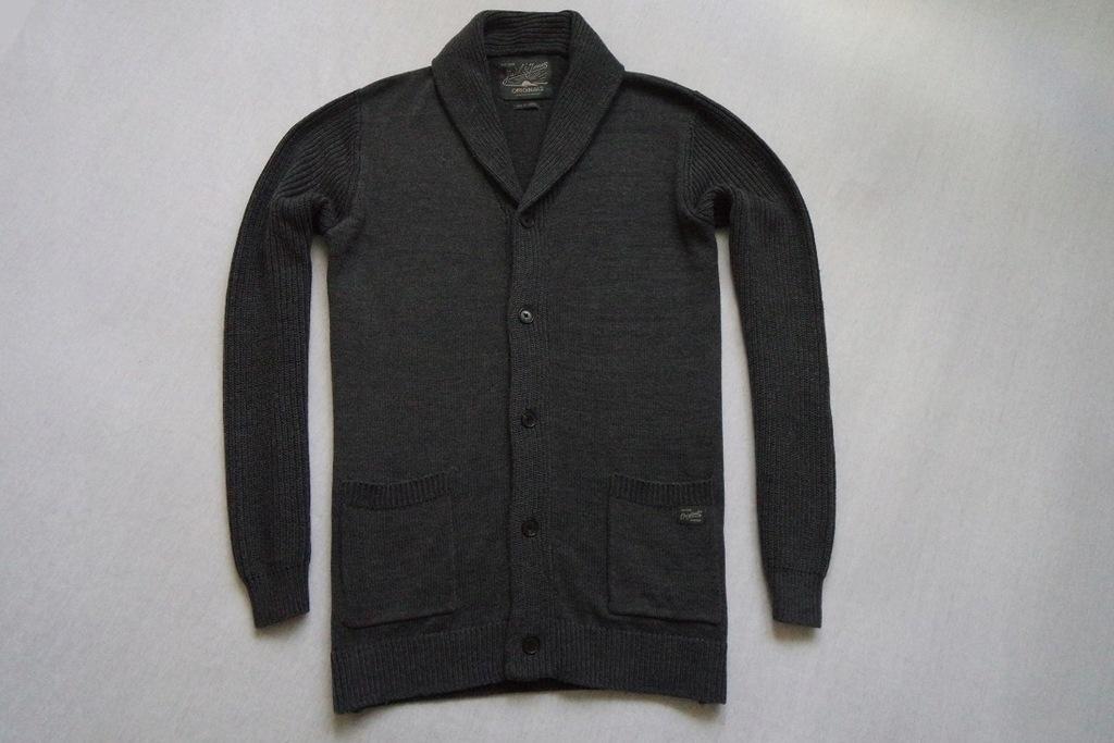 JACK&JONES sweter sweterek szary logowany___XL