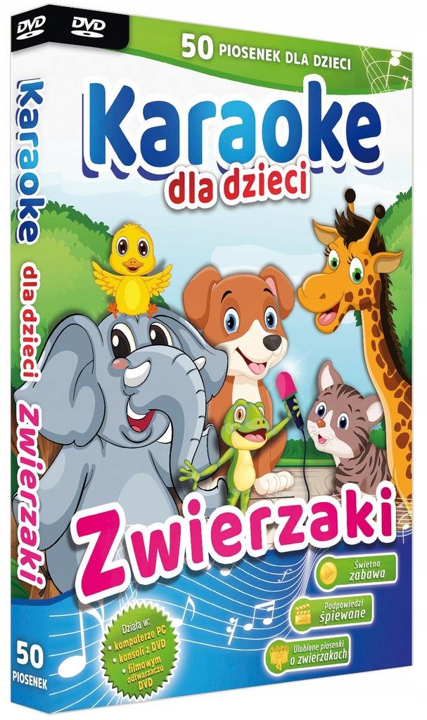 Piosenki o zwierzętach karaoke dla dzieci DVD