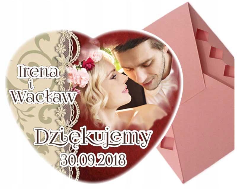Podziękowania dla gości ślub Ślubne Magnes PUDEŁKO
