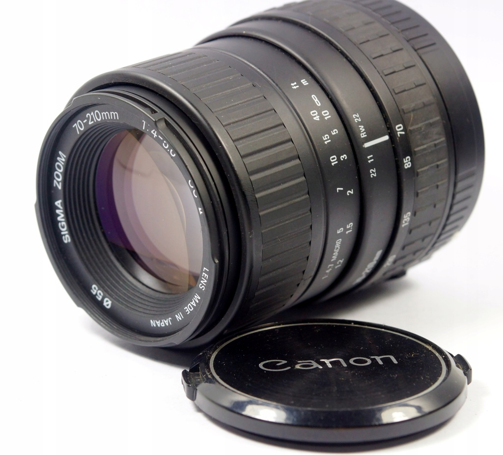 obiektyw Sigma 70-210 zoom canon 1:4-5,6 UC-II