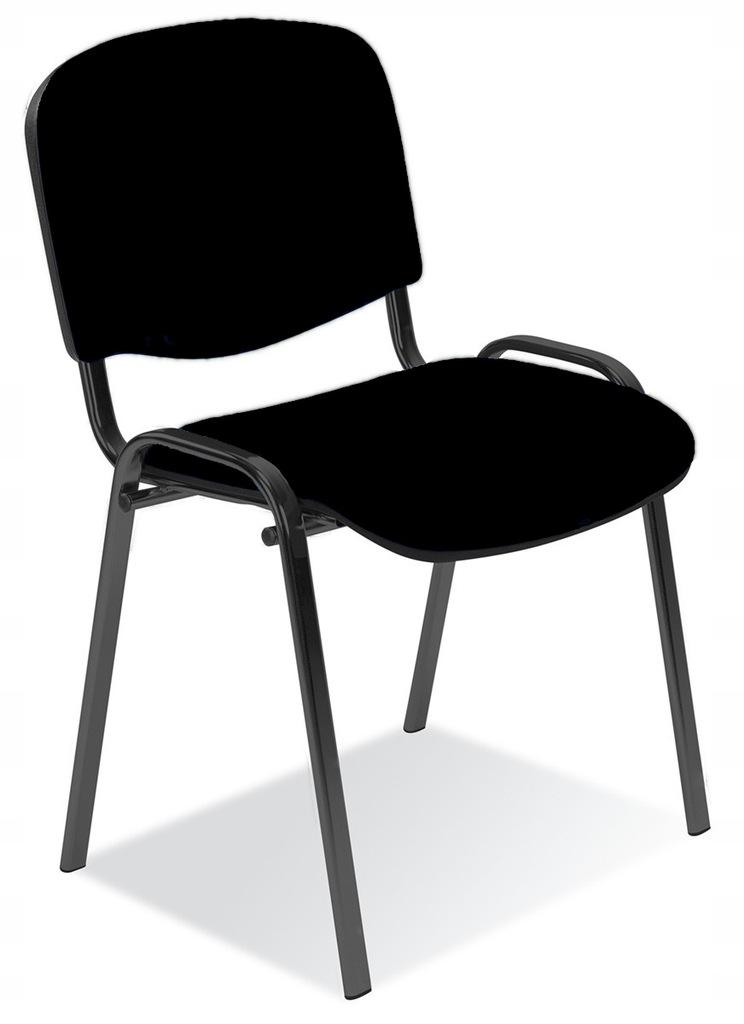 Krzesło konferencyjne ISO czarne Nowy Styl