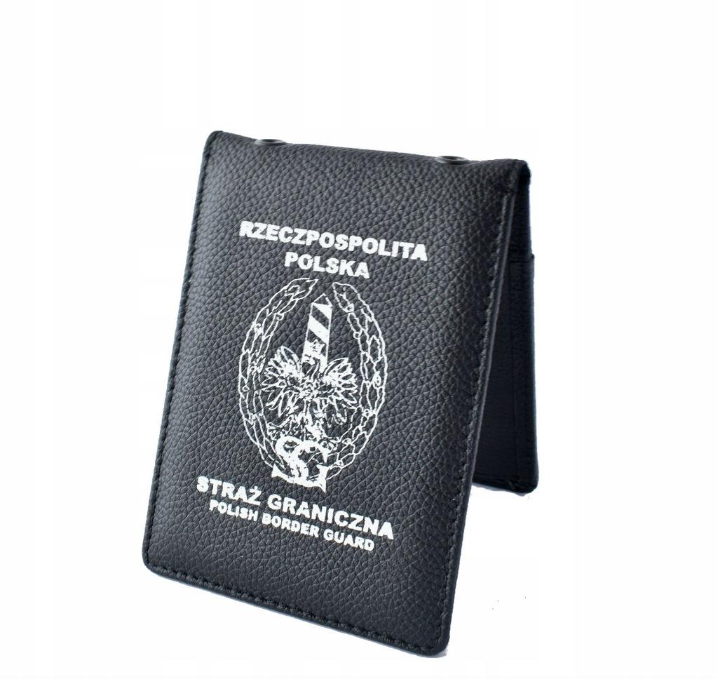 Etui na legitymację Straży Granicznej Biały Napis