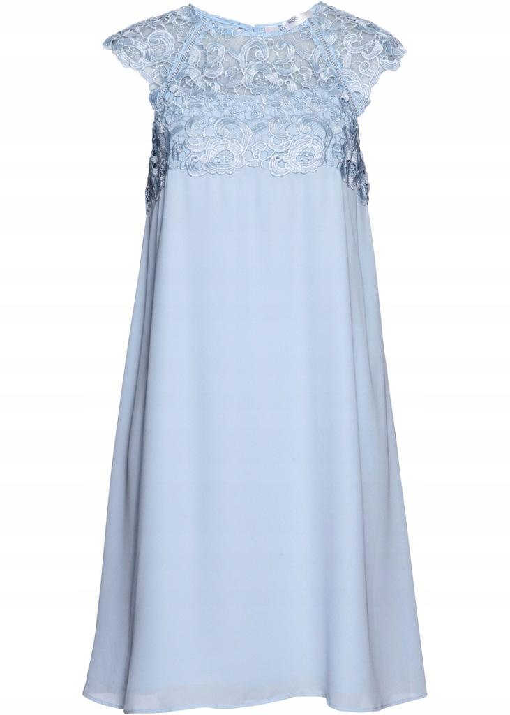 R1 BPC Sukienka szyfonowa z koronką 42