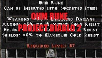 Runa Ohm Project Diablo 2