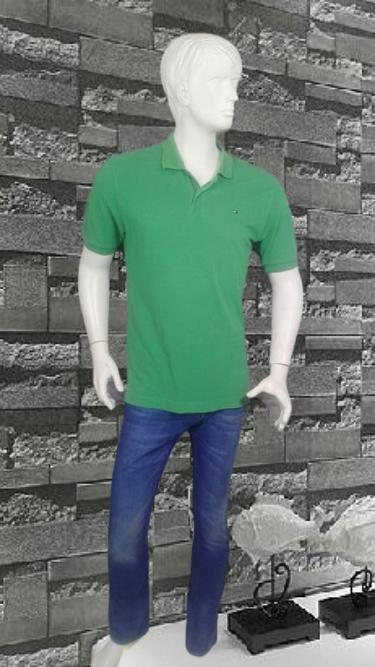 Tommy Hilfiger zielone polo logowane L