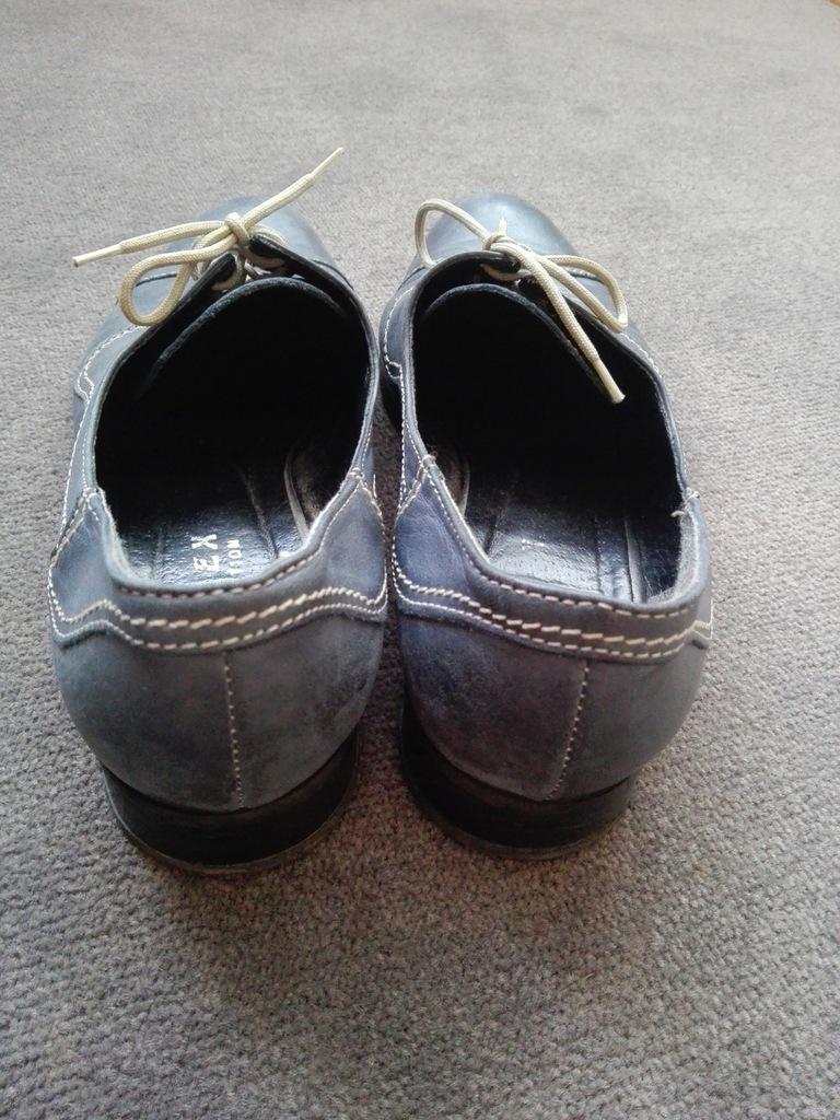 Buty na płaskim obcasie Romex, skóra