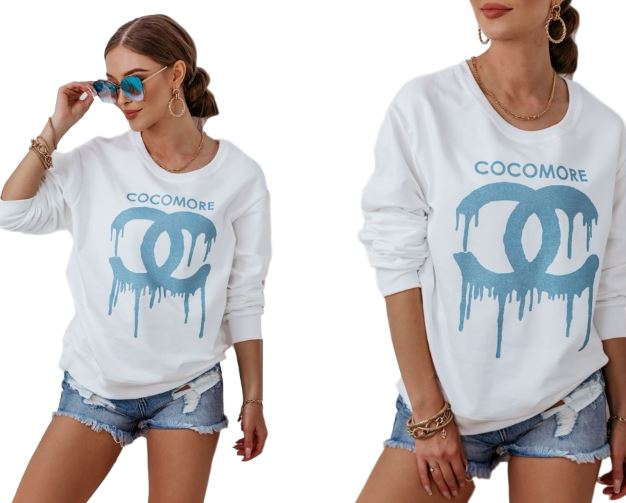COCOMORE... Bluza Niebieskie CC Ecru S