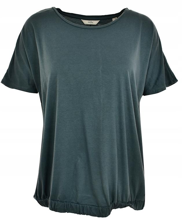 oAS7654 zielona gładka basicowa bluzka 52