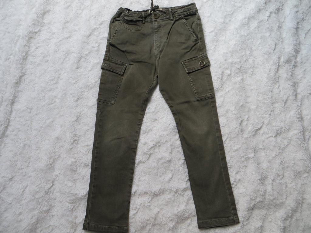 Spodnie bojówki szare ZARA 116 cm