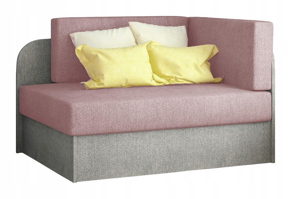 Kanapa łóżko ROSA młodzieżowe tapczan różowe RIBES