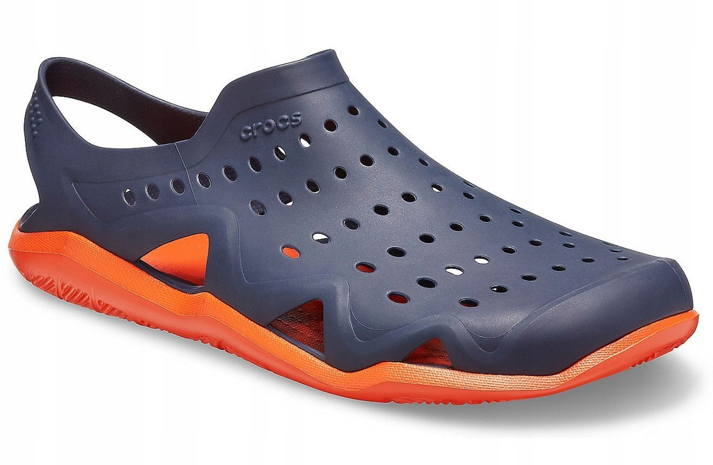 buty Crocs Swiftwater Wave - Navy/Tangerine