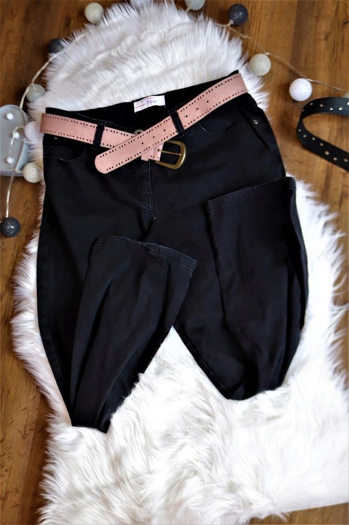 PAPAYA WOMEN JEANS WEAR czarne spodnie r.14 piękne