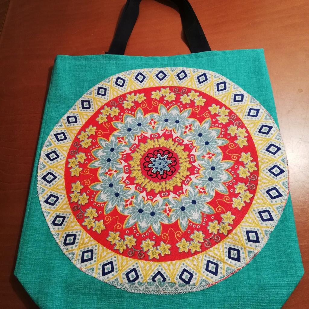 Torba na zakupy ,motyw aztecki,etniczny,Mandala